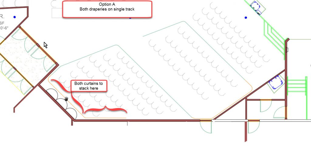 Track Design A - Both draperies on single track